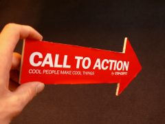 call to action arrow