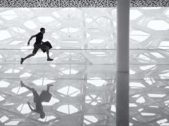 work life balance man running