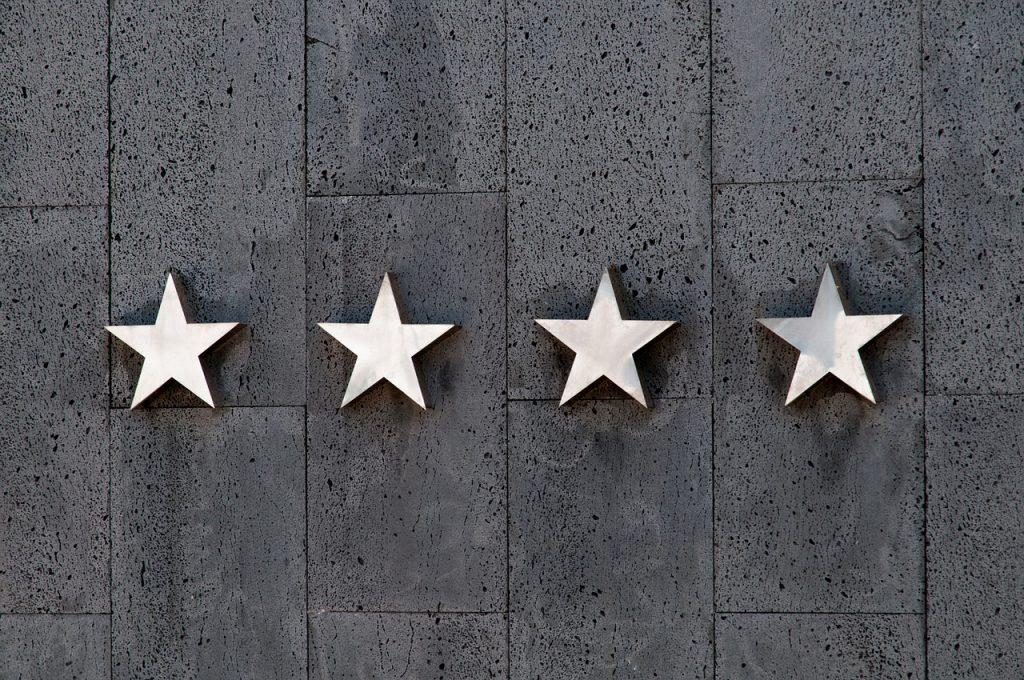 4 stars on wall
