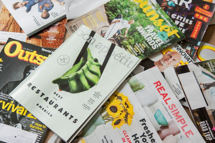 photo of magazines