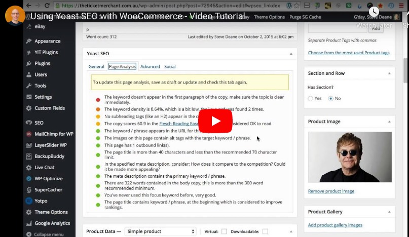 using yoast seo with woocommerce